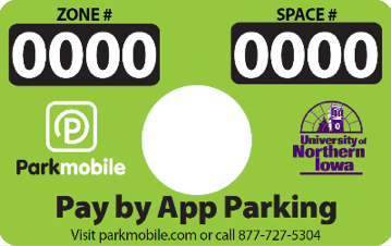 Parkmobile Space Sign