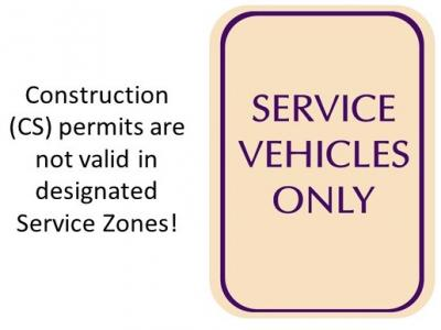 construction permits are not valid in designated service zones